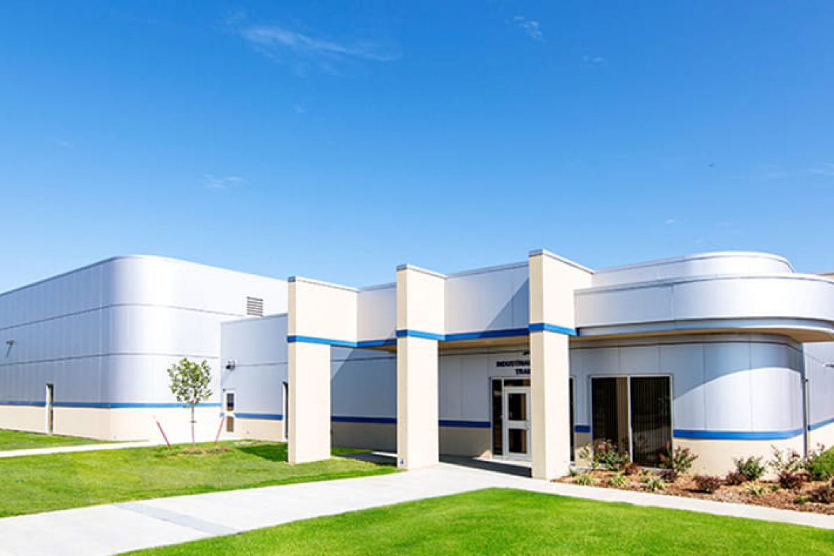 The Industrial & Safety Training Center and HVAC was built.