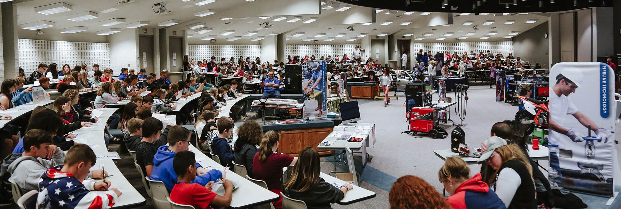 picture of kids at Career Connections at Central Tech in Drumright OK
