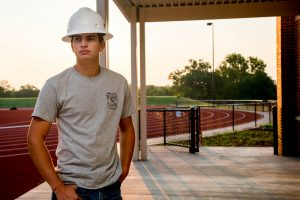 Construction student Koy Ramsey